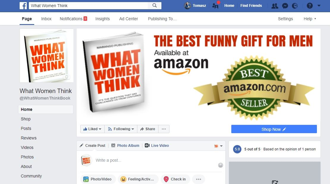 Promocja produktów - Facebook