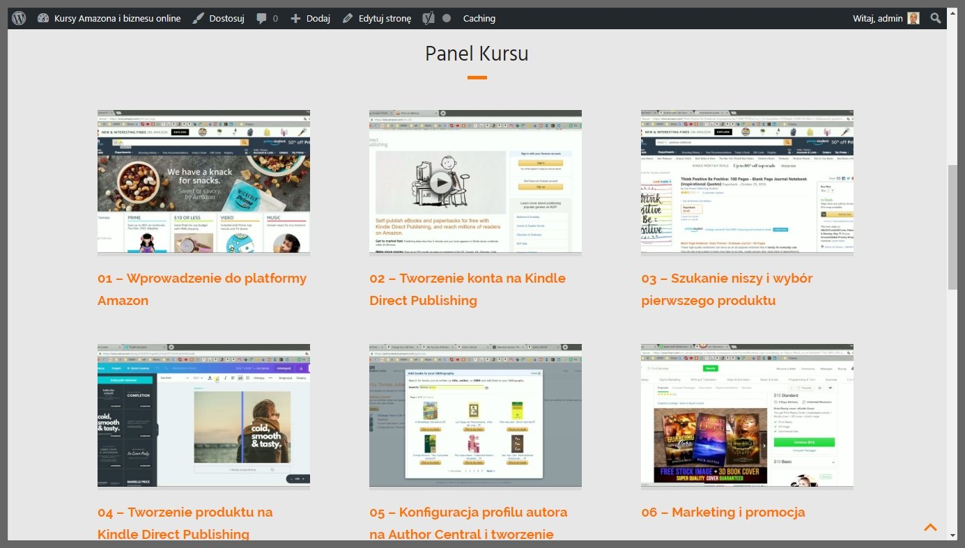 Jak stworzyć własny KURS ONLINE - wygląd kursu online Produkt24