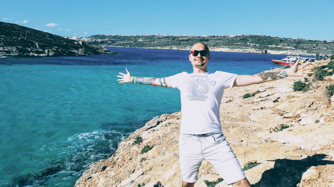 Rok 2018 - Malta, czyli wspaniałe połączenie wypoczynku i pracy zdalnej nad moim blogiem Od Kelnera Do Milionera.