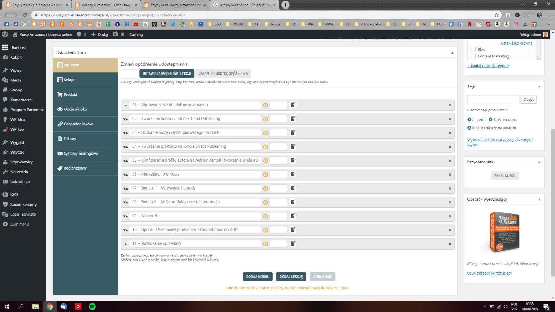 Jak wygląda kurs online od środka na platformie WordPress
