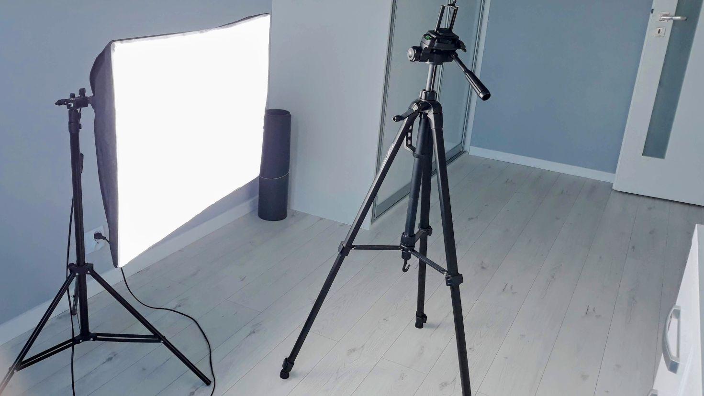 Własny kurs online - statyw i oświetlenie