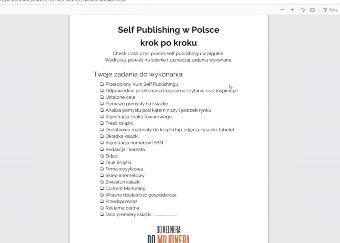 Kurs self-publishing krok po kroku - ustalanie i realizacja celów