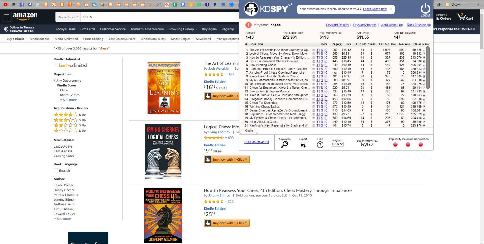Self Publishing i sprawdzanie niszy i Kindle Spy 2