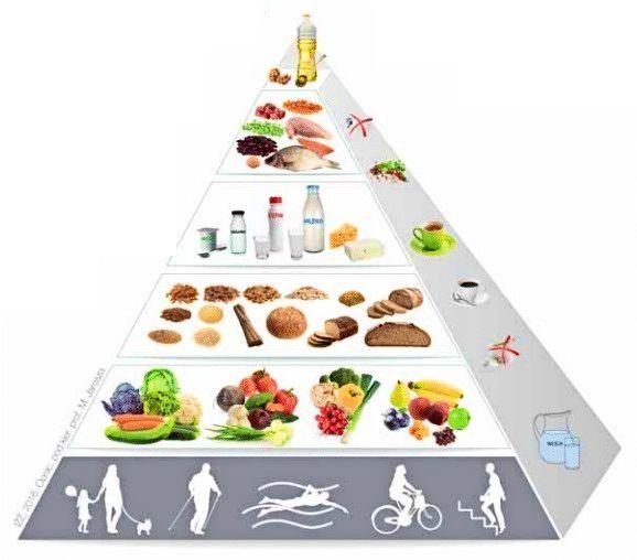Oficjalna piramida żywieniowa, która wg mnie (oraz wg diety paleo) zawiera wiele szkodliwych założeń, takich jak nadmiar węglowodanów oraz złe tłuszcze