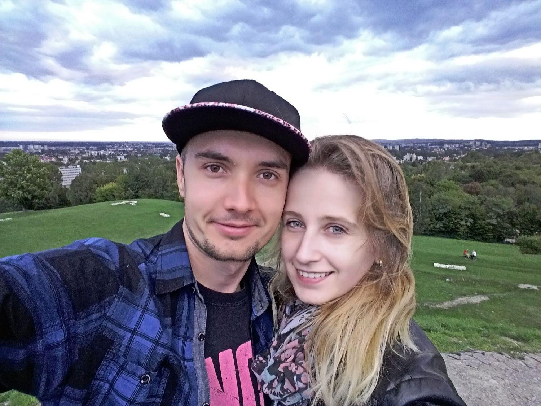 Spacer z moją obecną żoną Pauliną. Kopiec Kraka - 2018 rok.