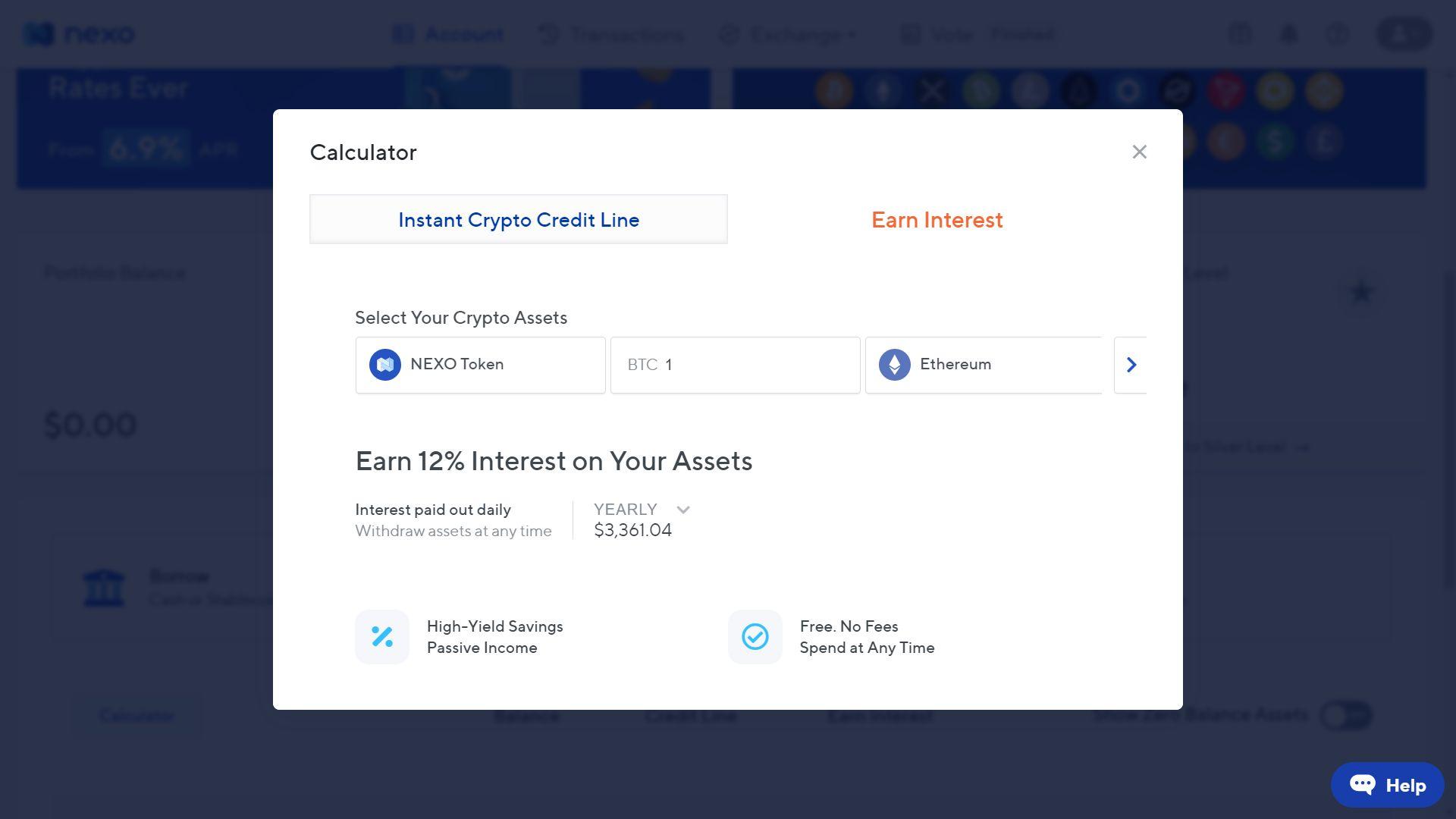 Jak zarabiać na kryptowalutach - serwis Nexo.io