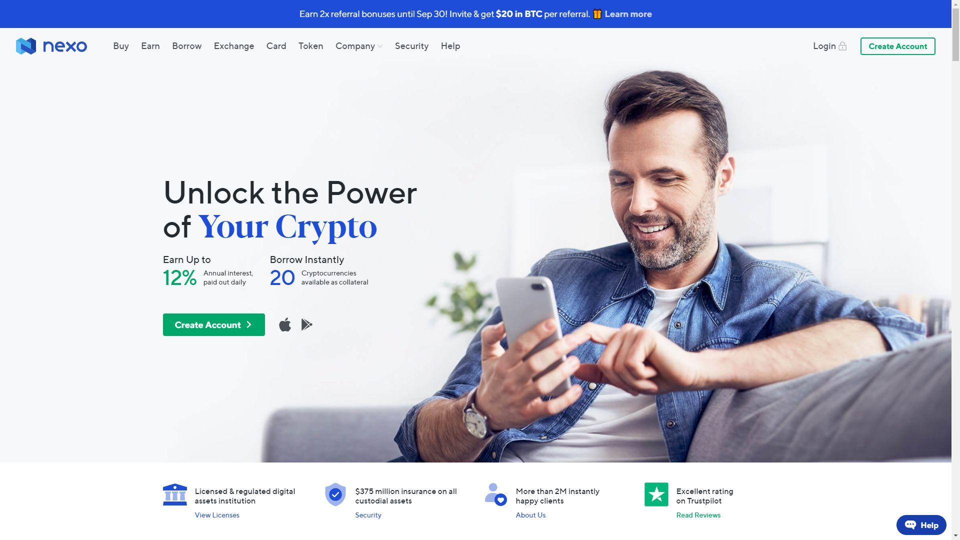 Nexo.io - serwis kryptowalut i lokata w jednym